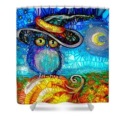 Owl Scare You Shower Curtain