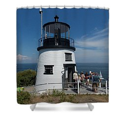 Owls Head Light Shower Curtain