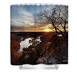 Shower Curtain featuring the photograph Ozark Sunset by Dennis Hedberg