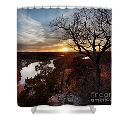 Ozark Sunset Shower Curtain