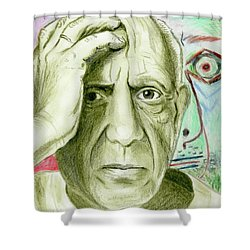 Pablo Piccaso Shower Curtain