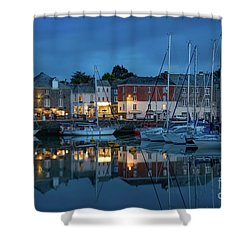 Shower Curtain featuring the photograph Padstow Evening by Brian Jannsen