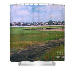 New England Shore Shower Curtain