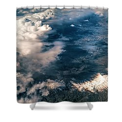 Painted Earth II Shower Curtain by Jenny Rainbow
