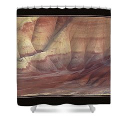 Shower Curtain featuring the photograph Painted Hills Triptych by Leland D Howard