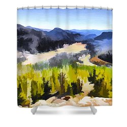 Painted Rockies Shower Curtain
