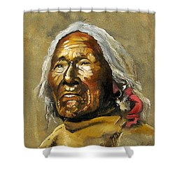 Painted Sands Of Time Shower Curtain by J W Baker