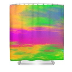 Painted Sky - Abstract Shower Curtain by Linda Hollis