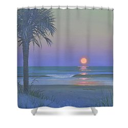 Palmetto Moon Shower Curtain by Blue Sky