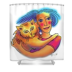Pals Shower Curtain