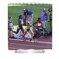 Pam Am Games. Athletics Shower Curtain