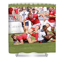 Pamam Games Mens' 7's Shower Curtain