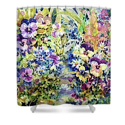 Pansy Path Shower Curtain