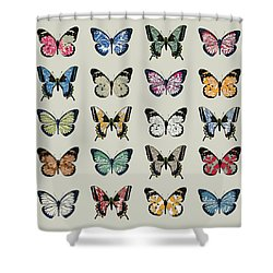Papillon Shower Curtain by Sarah Hough