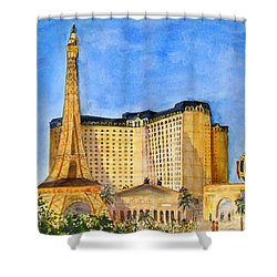 Paris Hotel And Casino Shower Curtain