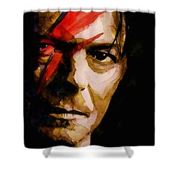 Shower Curtain featuring the painting Past And Present  by Paul Lovering