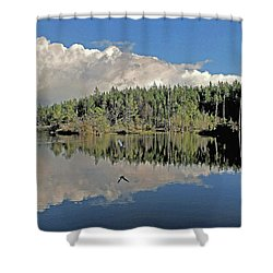 Pause And Reflect Shower Curtain by Suzy Piatt