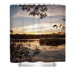 Pawcatuck River Sunrise Shower Curtain