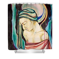 Peace Beneath The City Shower Curtain