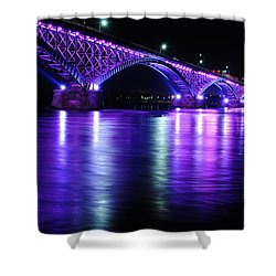 Peace Bridge Supporting Breast Cancer Awareness Shower Curtain
