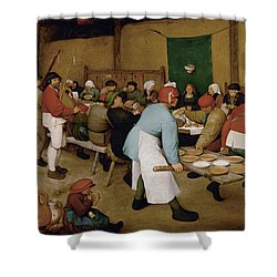 Peasant Wedding Shower Curtain