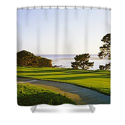 Pebble Beach Golf Course, Pebble Beach Shower Curtain