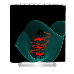 Shower Curtain featuring the painting Penman Original-149 by Andrew Penman