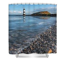 Penmon Point Lighthouse Shower Curtain