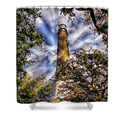 Pensacola Lighthouse Shower Curtain by Anthony Dezenzio