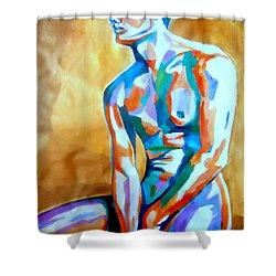 Pensive Figure Shower Curtain