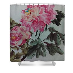 Peoney20161229_6 Shower Curtain by Dongling Sun