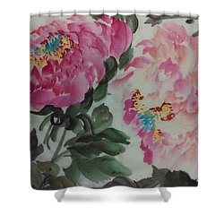 Peoney20161230_624 Shower Curtain by Dongling Sun