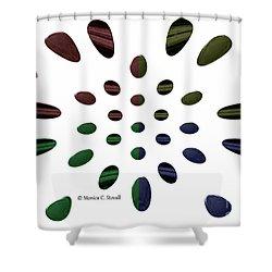 Petals N Dots P2 Shower Curtain