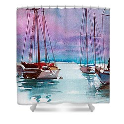 Shower Curtain featuring the painting Phang-nga Bay by Ed Heaton