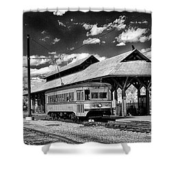 Shower Curtain featuring the photograph Philadelphia Trolley by Paul W Faust - Impressions of Light