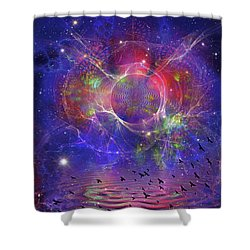 Photon Rings Shower Curtain