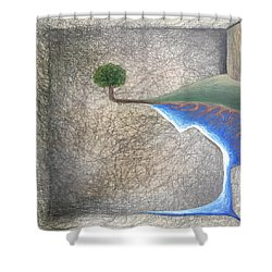 Shower Curtain featuring the mixed media Pillow by Steve  Hester