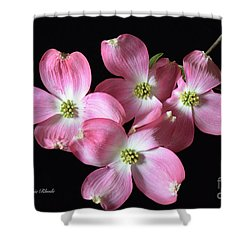 Pink Dogwood Branch Shower Curtain