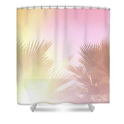 Shower Curtain featuring the photograph Pink Palms 2 by Cindy Garber Iverson
