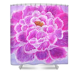 Shower Curtain featuring the painting Pink Peony by Sonya Nancy Capling-Bacle