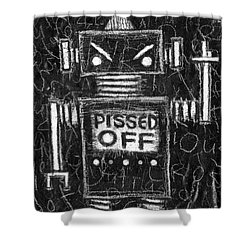 Pissed Off Bot Shower Curtain