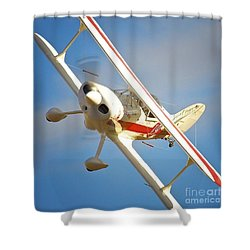 Pitts Special Race 19 Milk Run Shower Curtain