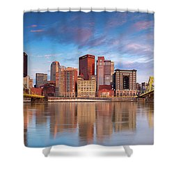 Shower Curtain featuring the photograph Pittsburgh North Shore  by Emmanuel Panagiotakis