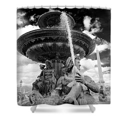 Shower Curtain featuring the photograph Place De La Concorde Fountain by Heidi Hermes