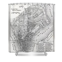 Plan Of The City Of New York Shower Curtain by American School