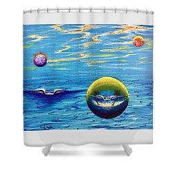Planet Surf  Shower Curtain