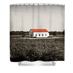 Plantation Church Shower Curtain by Scott Pellegrin