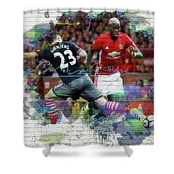 Pogba Street Art Shower Curtain by Don Kuing
