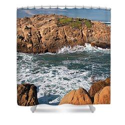 Point Lobos Shower Curtain by Glenn Franco Simmons