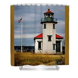Point Robinson  Lighthouse,vashon Island.wa Shower Curtain
